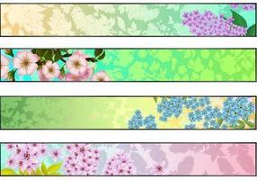Ensemble de bannière Vector Floral Frais