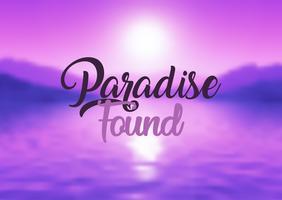 Paradis trouvé fond de citation vecteur