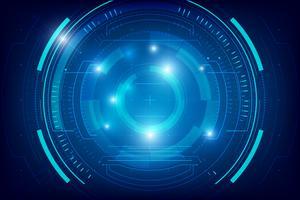 Résumé de la technologie de fond HUD 005 vecteur