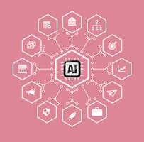 IA Intelligence artificielle Technologie pour les affaires et les éléments financiers et élément de design