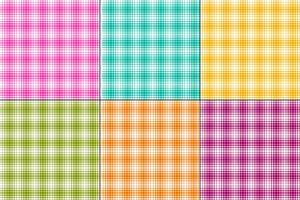 plaids colorés de vecteur ombre