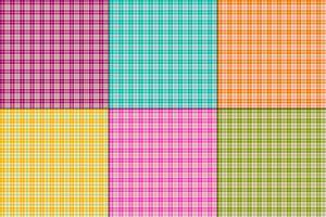 couleurs vives plaids petit vecteur