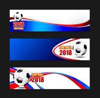 Football Football 2018 bannière Web 002 vecteur