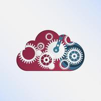 Technologie de cloud computing. Fond de nuage créatif pour les entreprises.
