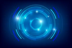 Résumé de la technologie de fond HUD 004 vecteur