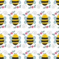 Illustration vectorielle motif abeille vecteur