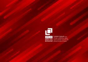 Éléments géométriques design moderne de couleur rouge foncé abstrait vecteur