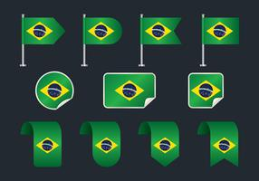 drapeau brésilien clipart set