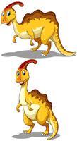 Parasaurolophus dans deux poses différentes vecteur