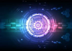 Circuit numérique technologie abstrait fond illustration vectorielle