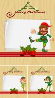 Modèle de bordure avec des élévations de Noël vecteur
