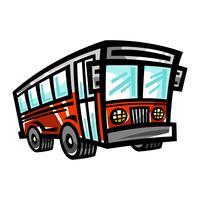 Icône de vecteur de bus de ville bus