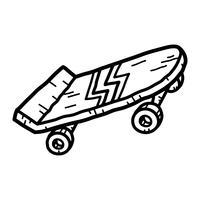 planche à roulette vecteur