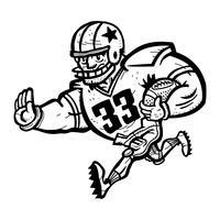 Caricature de joueur de football vecteur