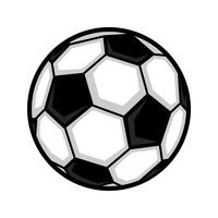 Icône de vecteur de ballon de football