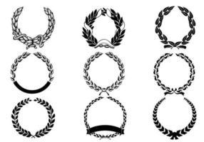 Pack de vecteurs de couronnes de laurier vecteur