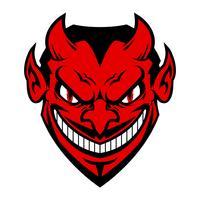 Visage diable vecteur