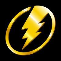 Éclair électrique vecteur