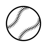 Icône de vecteur de baseball