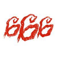 666 lettrage graphique vecteur