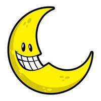 Lune souriant illustration vectorielle dessin animé