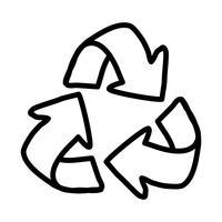 Icône de recyclage des flèches vecteur