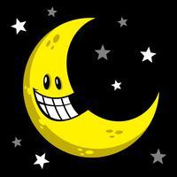 Lune souriant illustration vectorielle dessin animé vecteur