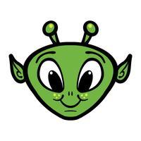 Illustration vectorielle tête extraterrestre vecteur