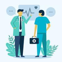 Vecteur de caractère de soins de santé