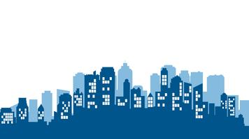 Paysage de la ville. Architecture de bâtiment moderne Cityscape urbain. vecteur