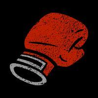 Poinçonnage gants de boxe vecteur