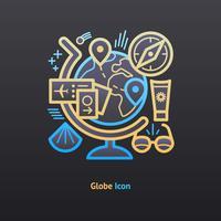 icône du globe