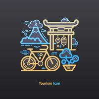 Icône de tourisme. vecteur