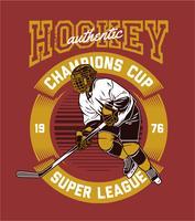 un joueur de hockey vecteur