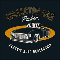 collectionneur de voitures classiques vecteur