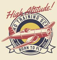Avion de haute altitude vecteur