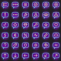 Icônes de message vecteur