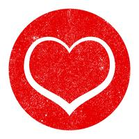 Graphique coeur romantique vecteur