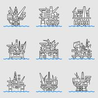 Plate-forme pétrolière offshore.