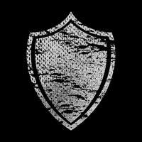 Icône de vecteur de crête de bouclier