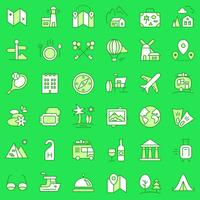 Ensemble d'icônes de voyage. vecteur