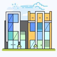 Appartements en copropriété ou immeubles de bureaux.