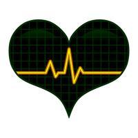 Graphique Pulse EKG Heartbeat Romantic Love vecteur