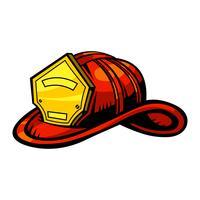 Casque de pompier vecteur