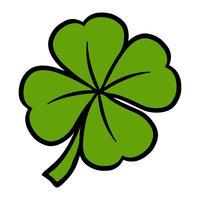 Trèfle irlandais chanceux pour la Saint-Patrick vecteur