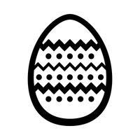 Icône de vecteur d'oeuf de Pâques