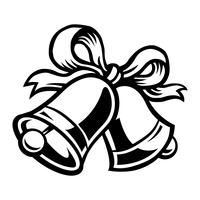 Cloches de Noël vector icon