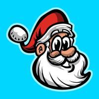 illustration vectorielle de père Noël visage vecteur