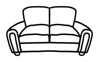Icône de vecteur de canapé