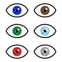 Icône de vecteur d'oeil